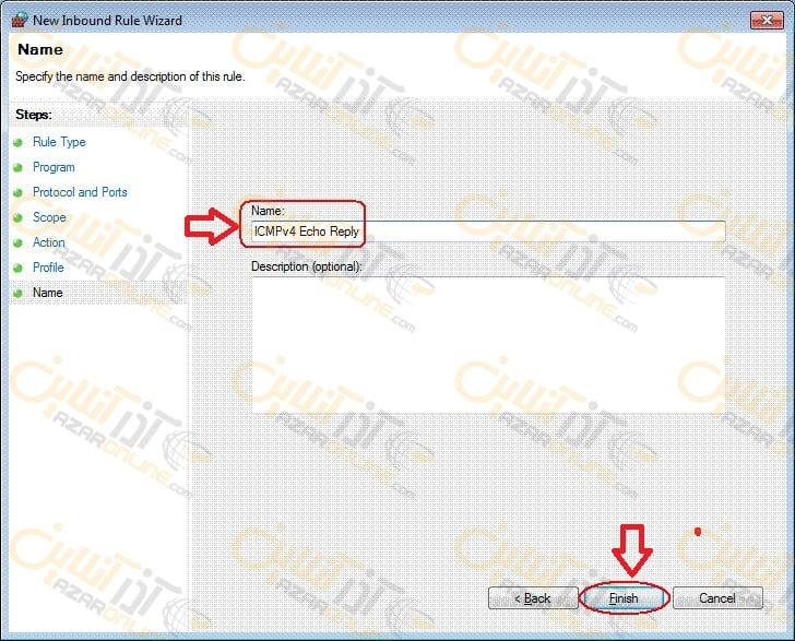 تنظیم فایروال و باز کردن پورت ICMP در سرور 2008