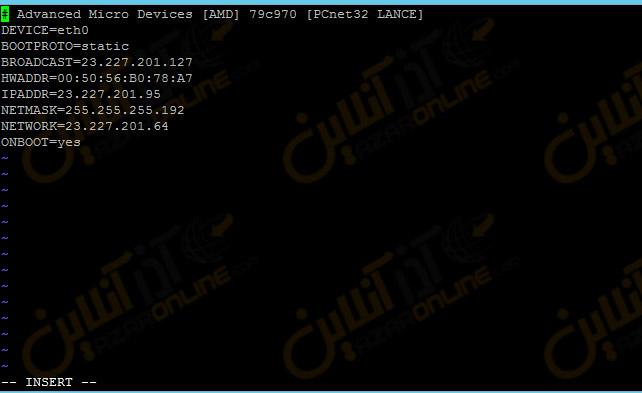 کانفیگ آدرس IP استاتیک