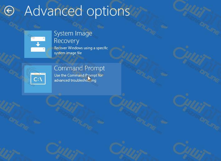 بازیابی پسورد windows server 2012