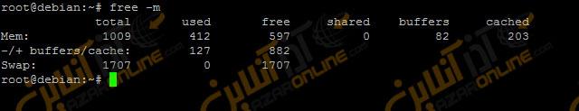 مصرف رم در سرور مجازی لینوکس