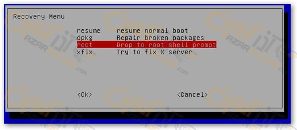 فراموش کردن رمز ubuntu