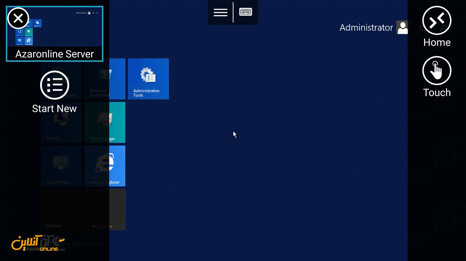 آموزش اتصال به سرور مجازی ویندوز با آندروید - نمایی از ریموت دسکتاپ