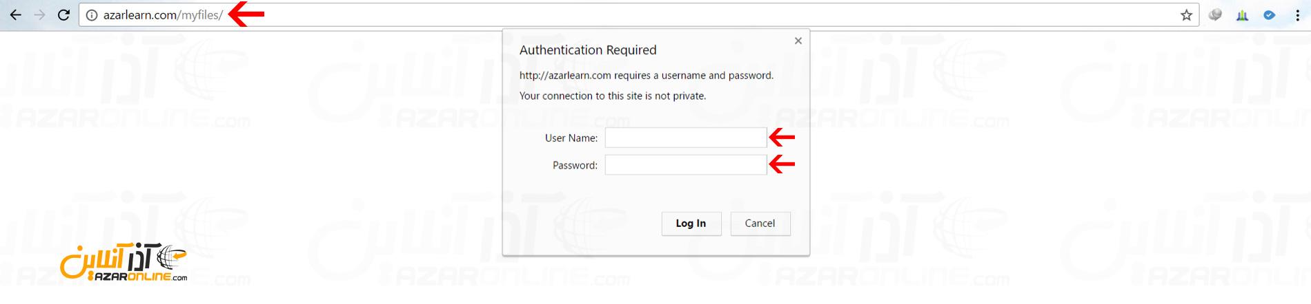 ایجاد رمز عبور برای یک پوشه در cpanel - باز کردن فولدر رمز گذاری شده
