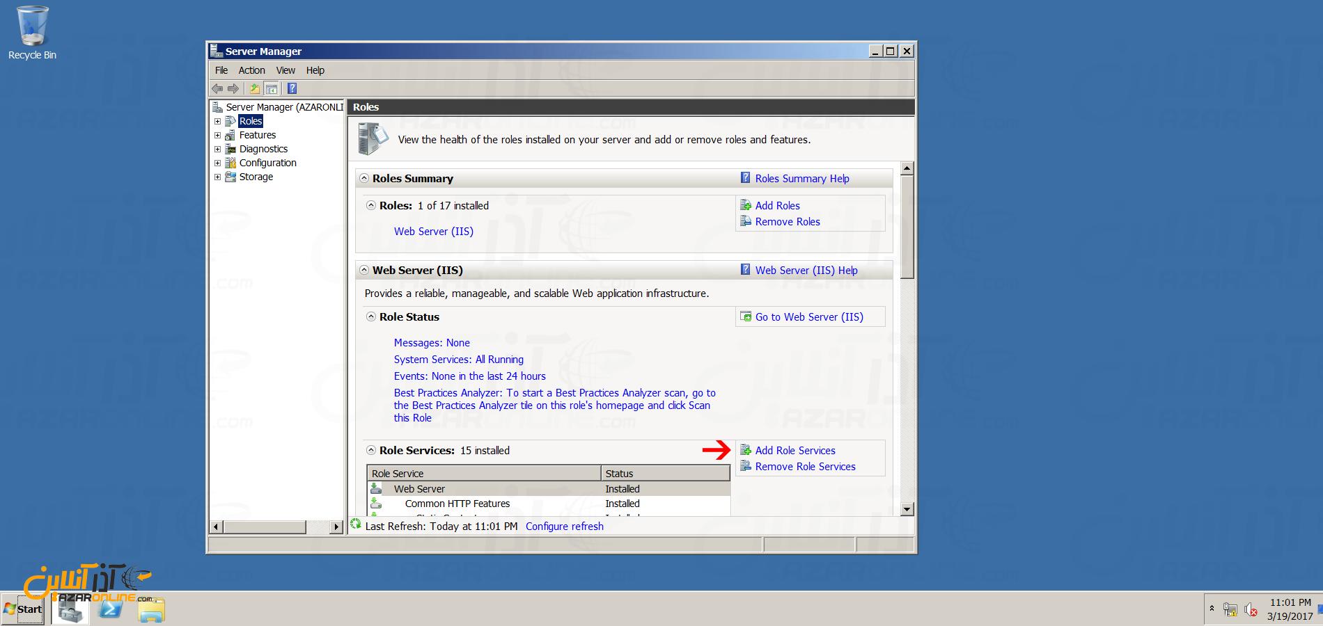 نصب FTP سرور در ویندوز سرور 2008 - add rules services