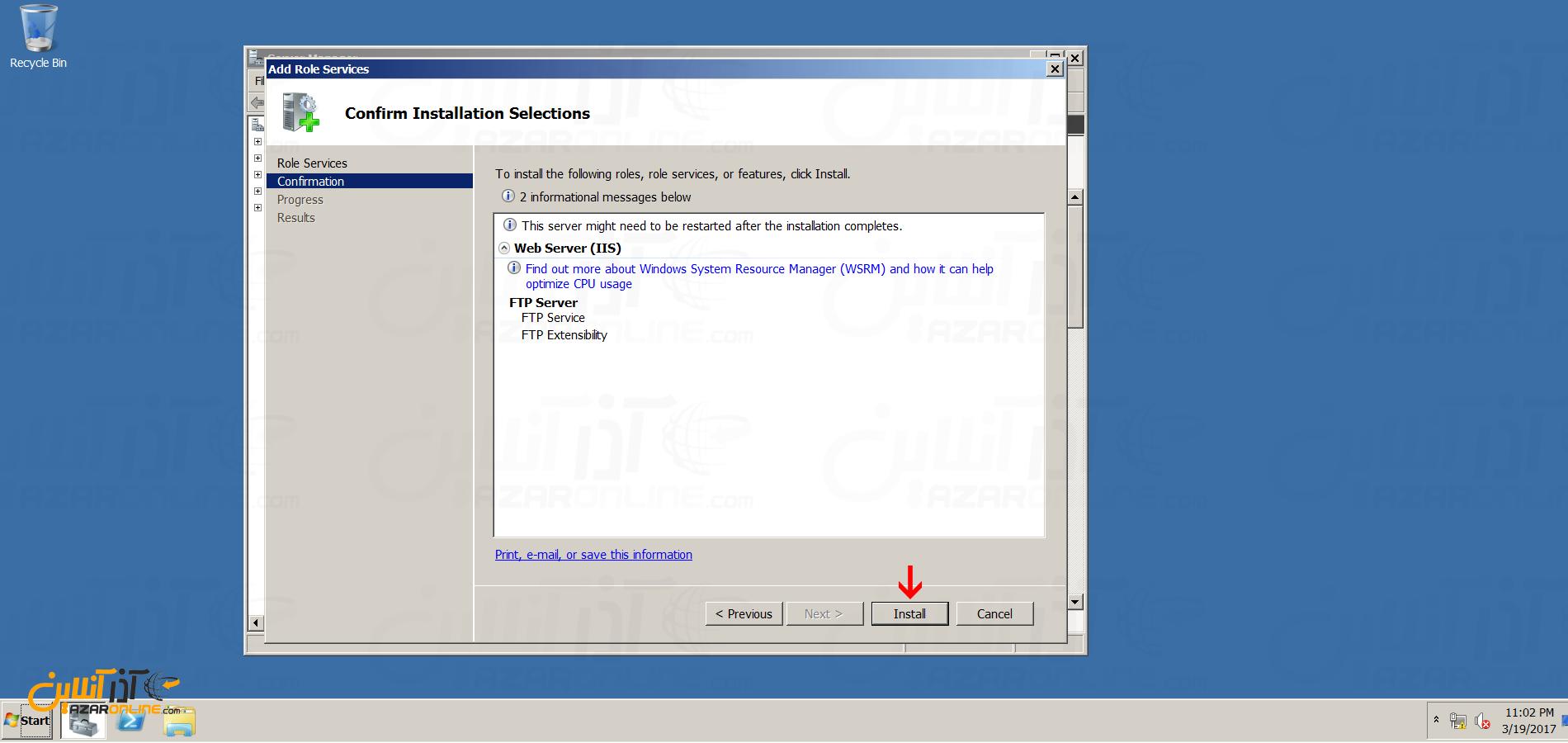 نصب FTP سرور در ویندوز سرور 2008 - نصب FTP