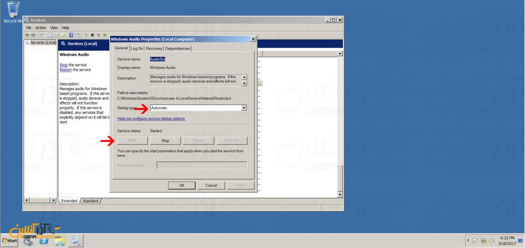 آموزش فعال کردن کارت صدا در سرور مجازی ویندوز 2008 - استارت سرویس