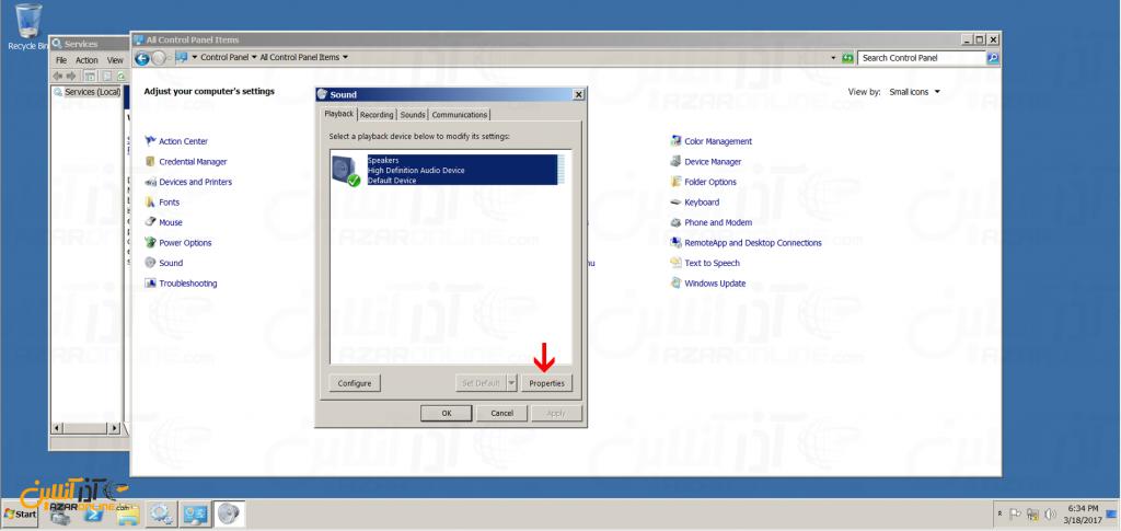 آموزش فعال کردن کارت صدا در سرور مجازی ویندوز 2008