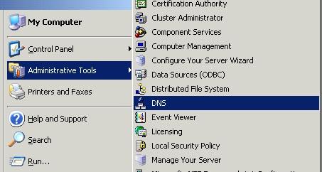 آموزش وصل کردن دامنه به سرور مجازی ویندوز 2003 - باز کردن DNS
