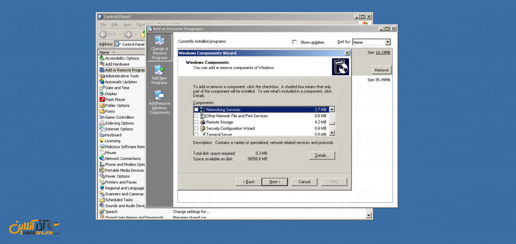 آموزش وصل کردن دامنه به سرور مجازی ویندوز 2003