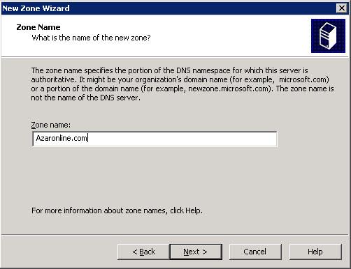 آموزش وصل کردن دامنه به سرور مجازی ویندوز 2003 - مراحل اضافه کردن Zone