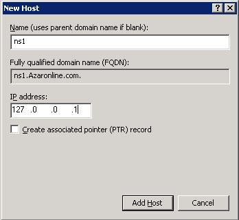 آموزش وصل کردن دامنه به سرور مجازی ویندوز 2003 - اضافه کردن NS