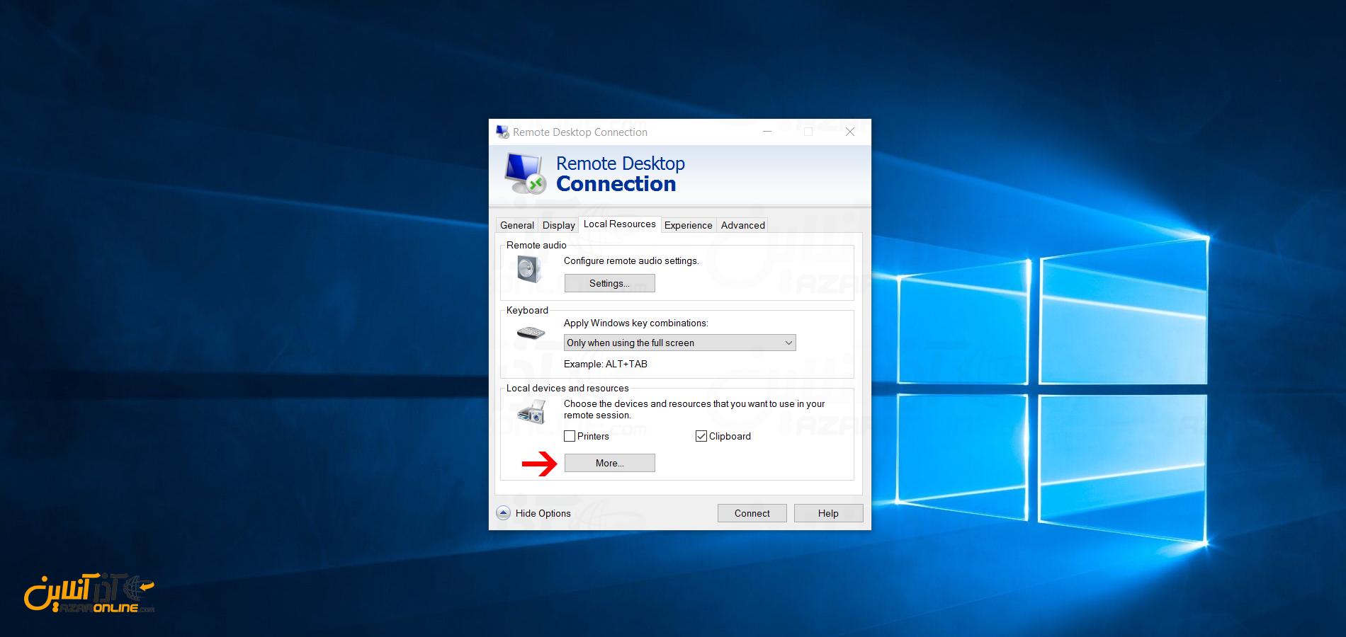 آموزش انتقال فایل از وی پی اس به کامپیوتر و بالعکس - Option های اضافی