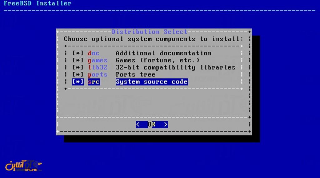 نصب freeBSD - کامپوننت