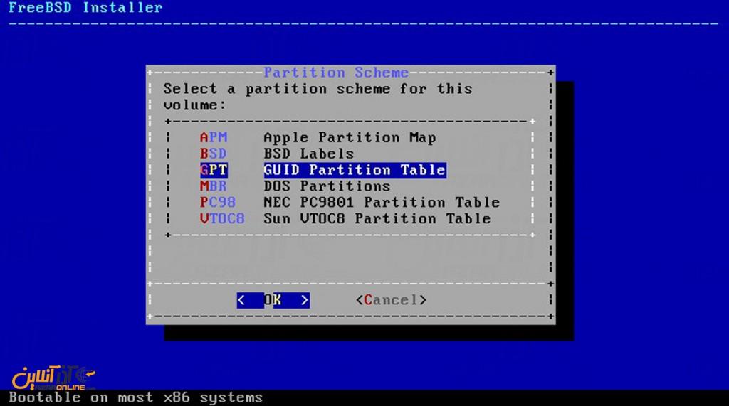 نصب freeBSD - نوع بوت لودر