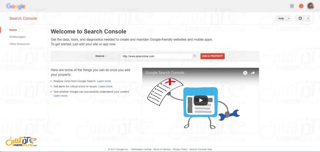 ثبت سایت در گوگل - اضافه کردن سایت