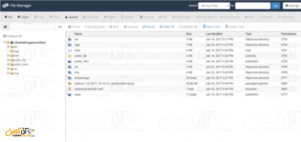 نصب وردپرس در Cpanel - آپلود فایل