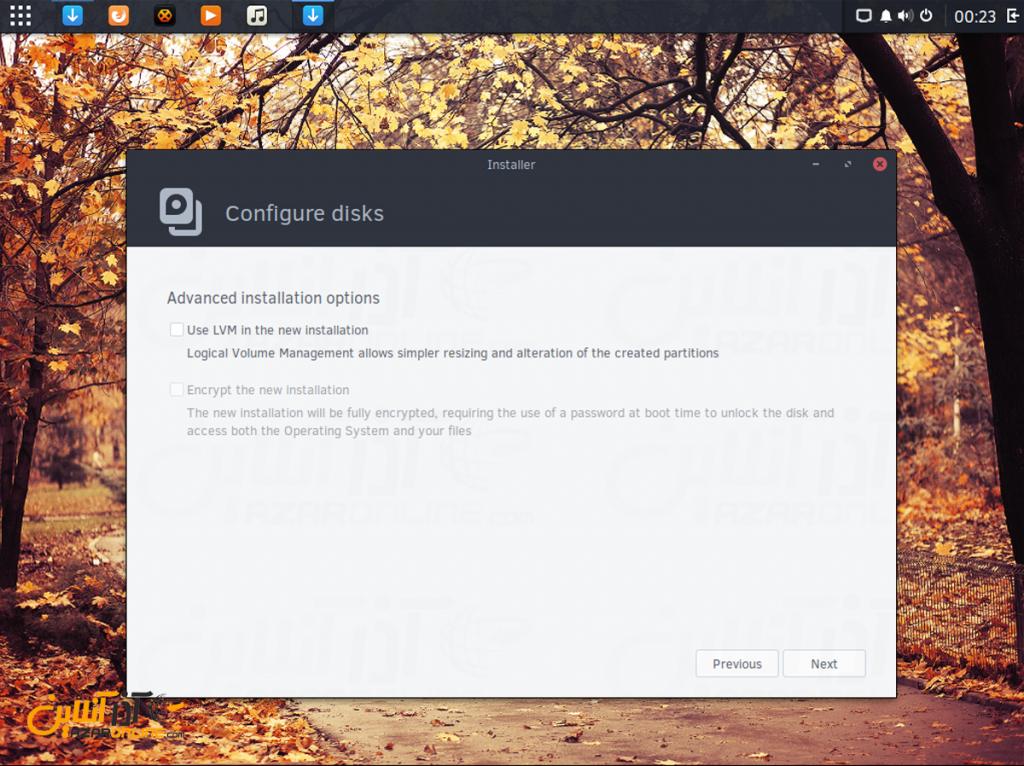 نصب لینوکس Solus - تنظیمات هارددیسک