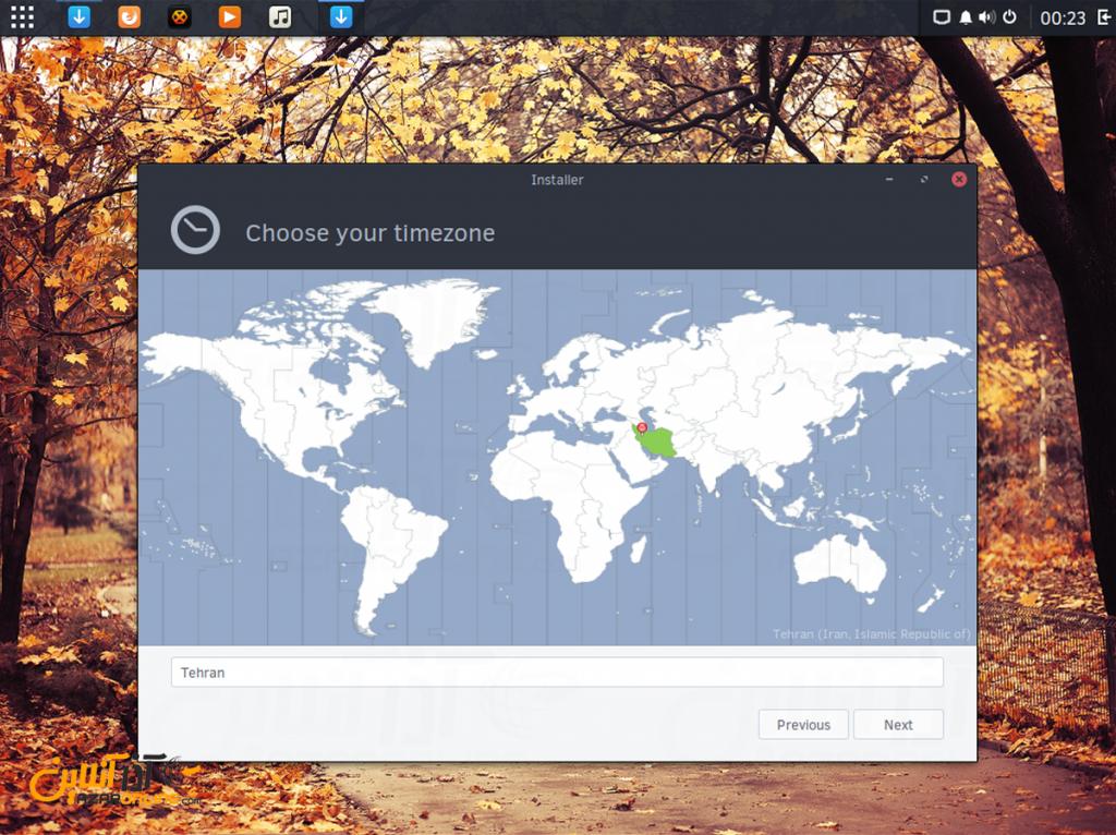 نصب لینوکس Solus - منطقه زمانی