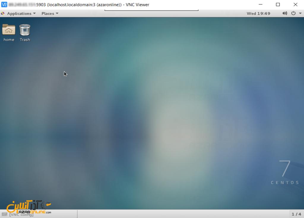 نصب VNC روی لینوکس CentOS 7 - محیط گنوم از طریق VNC