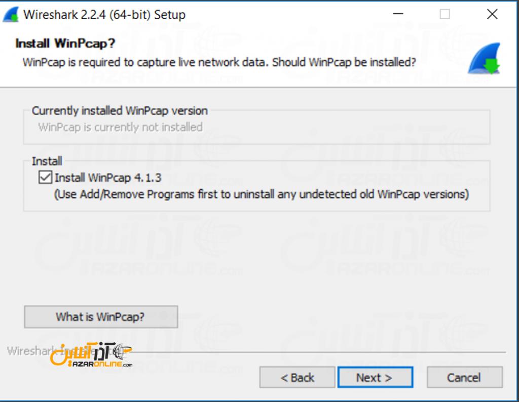 آموزش نصب wireshark - نصب winpcap