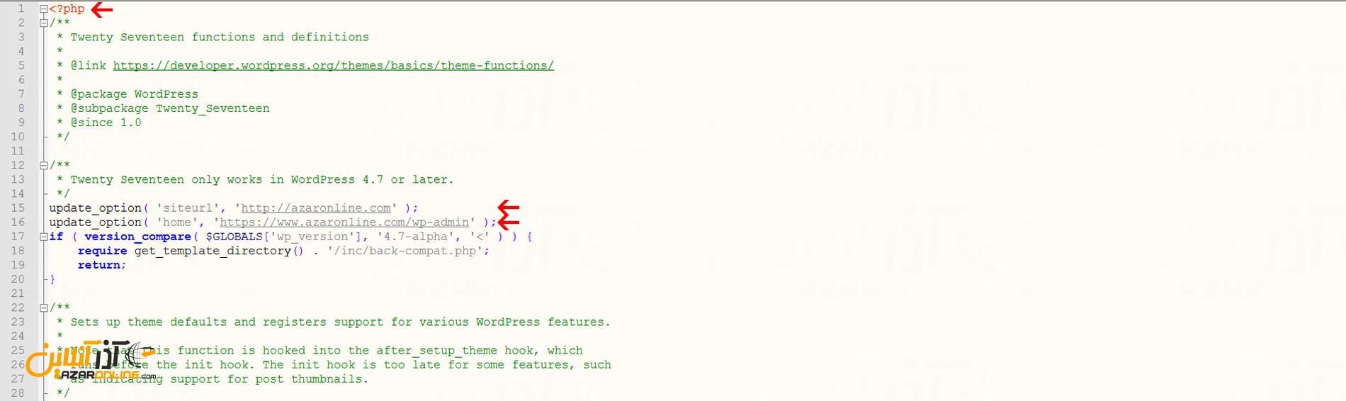 آموزش تغییر URL در وردپرس از طریق function.php