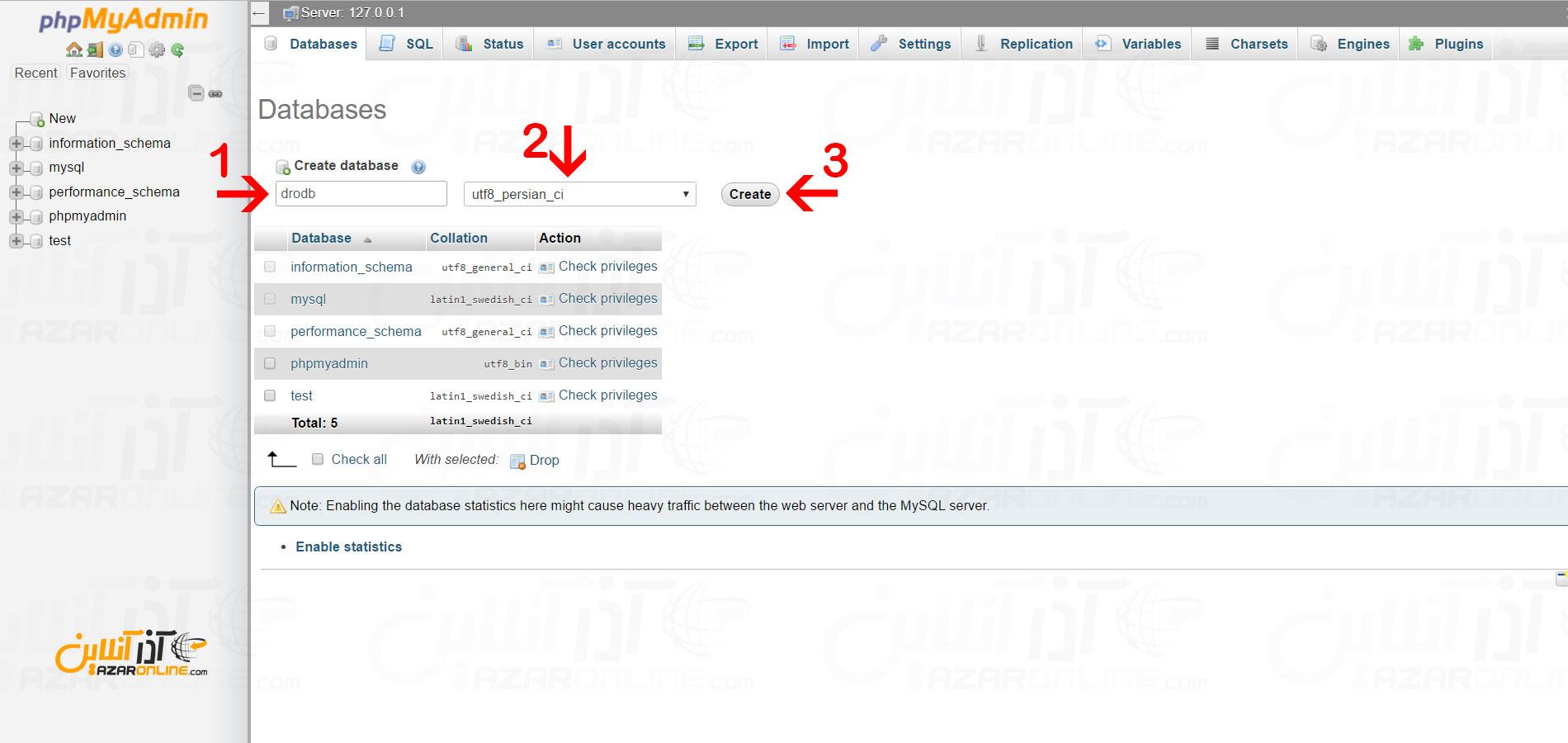 وارد کردن اطلاعات دیتابیس برای دروپال لوکال هاست