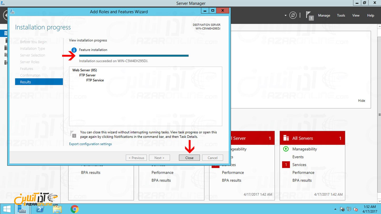 نصب سرویس FTP روی ویندوز سرور 2012