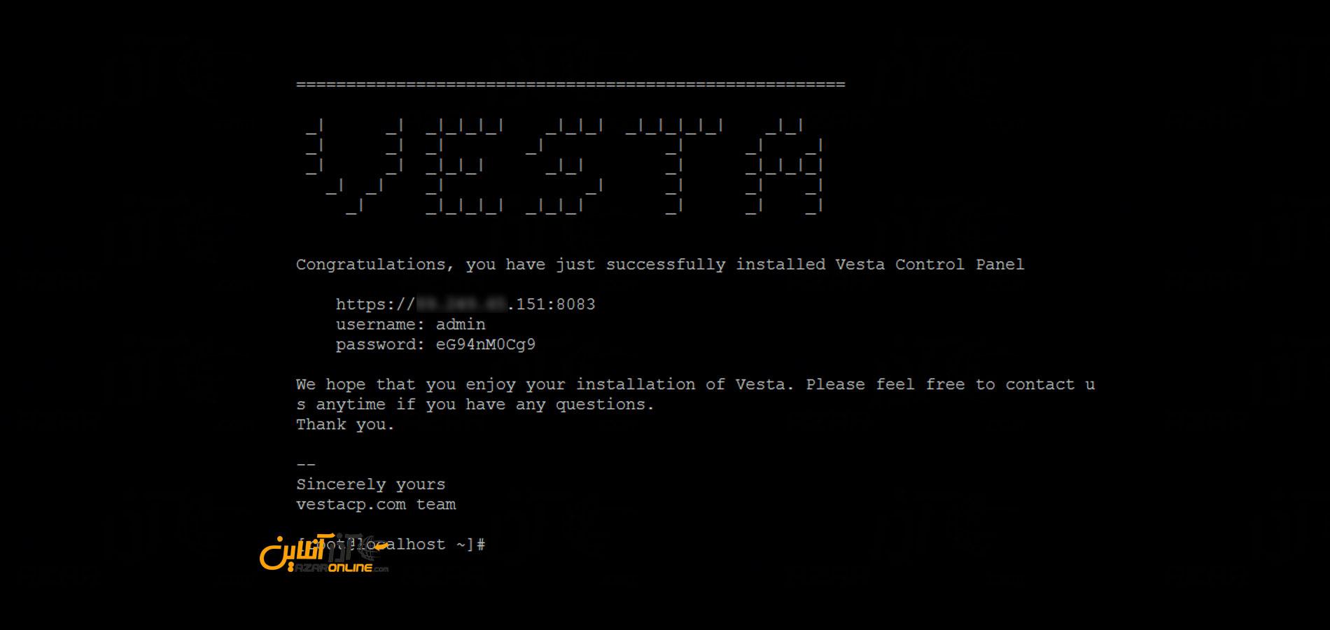 آموزش نصب کنترل پنل VestaCP در CentOS