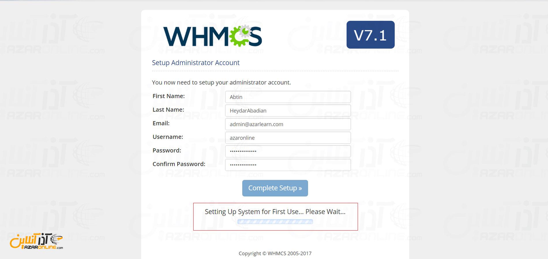 نصب whmcs - شروع نصب