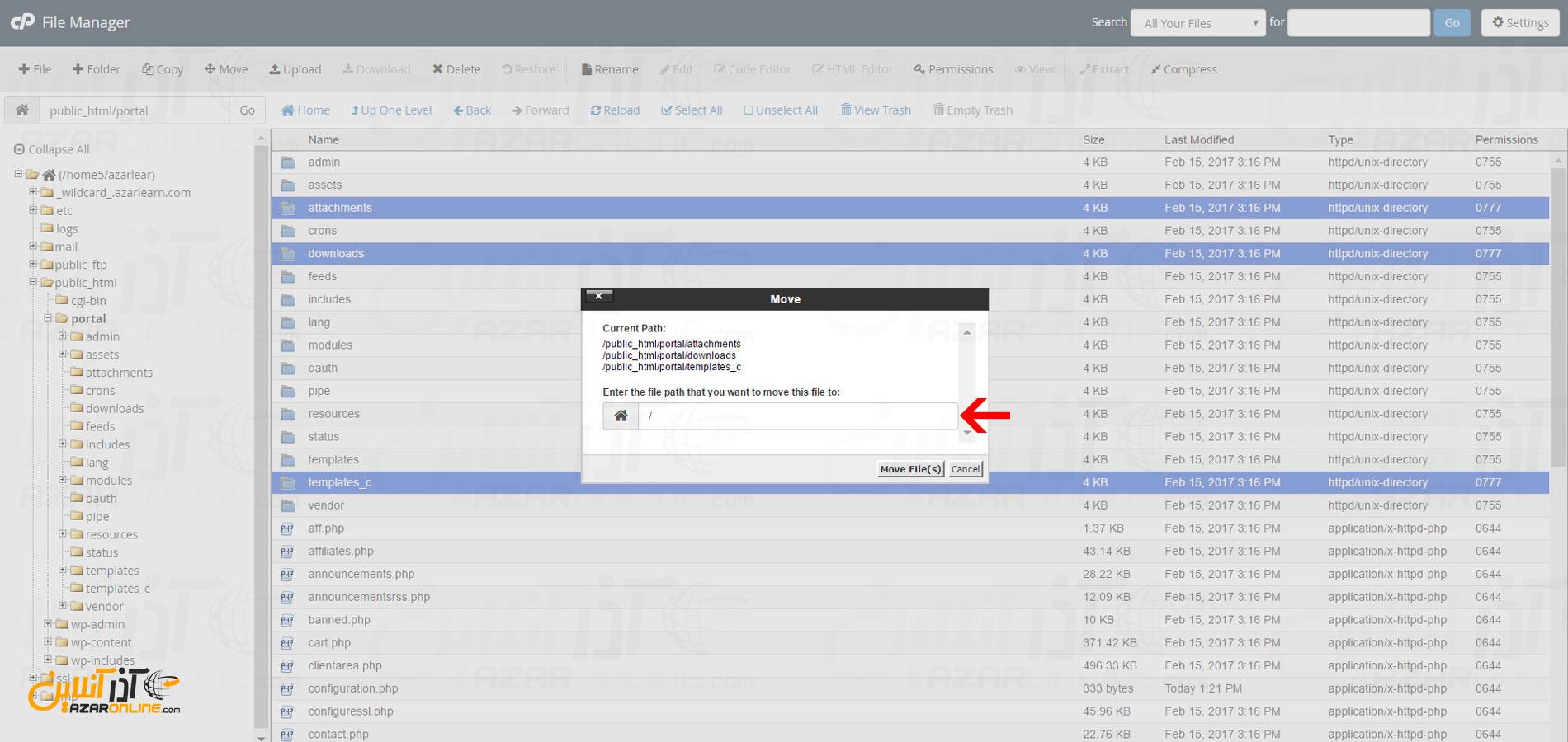 آموزش نصب whmcs - انتقال 3 فایل