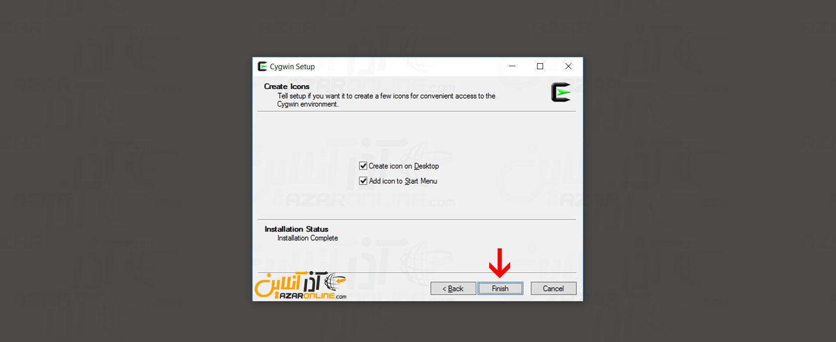 نصب به پایان رسید - آموزش نصب cygwin در ویندوز