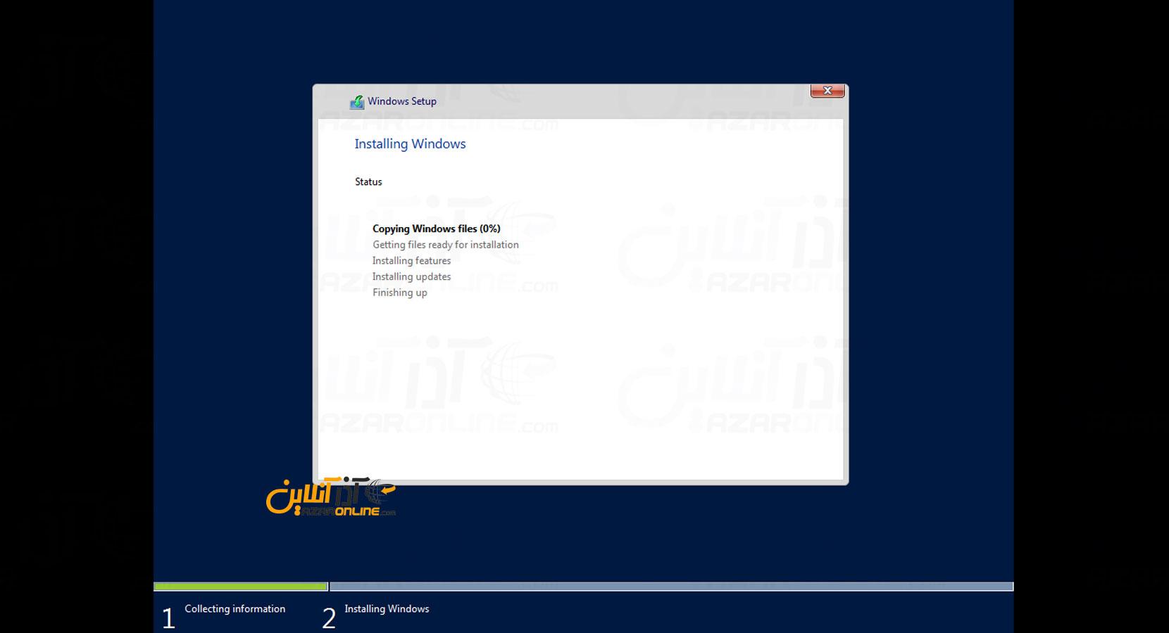آموزش نصب ویندوز سرور 2016 در vmware - کپی و نصب فایلهای ویندوز سرور