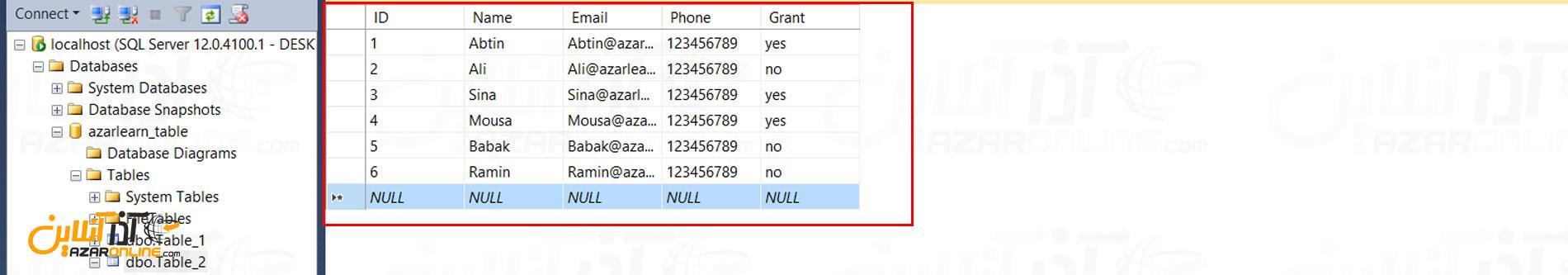 انتقال اطلاعات از Excel به جدول SQL