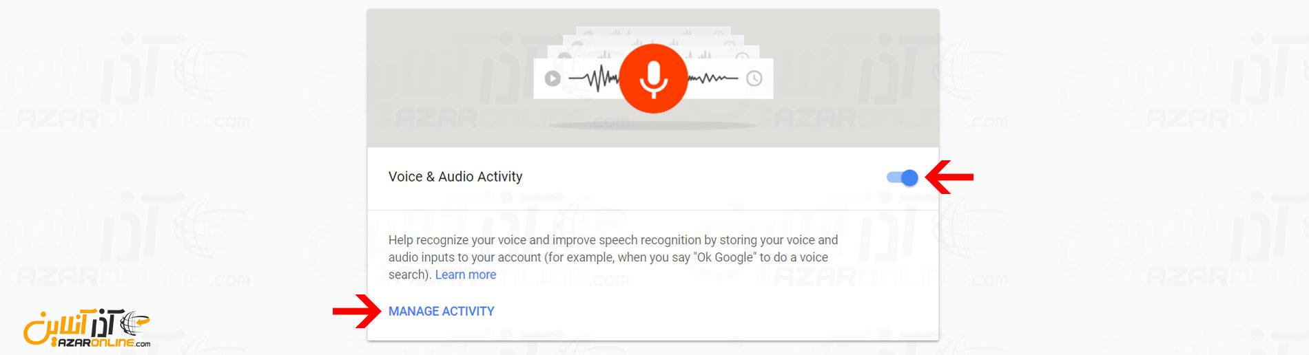 فعالیت Voice و گفتارها