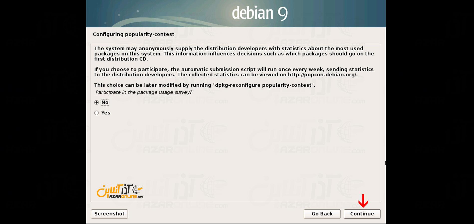 تنظیم اتصال دبیان با سایت جهت ارسال خطا ها