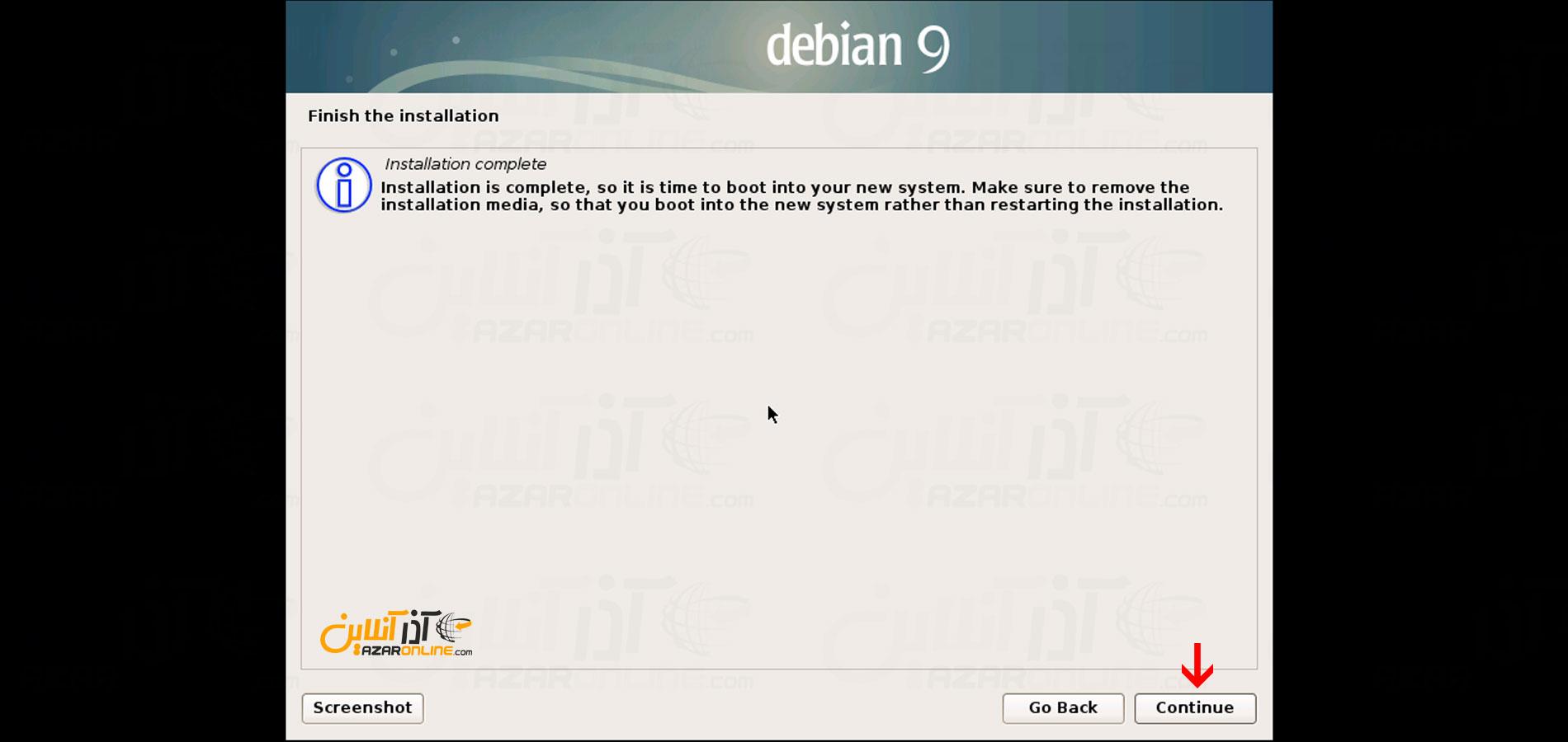 اتمام نصب دبیان 9 - آموزش نصب دبیان 9 روی Vmware